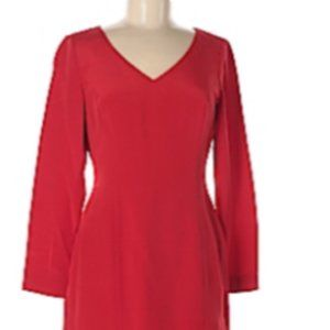 Hugo Buscati Elegant Red Silk Dress